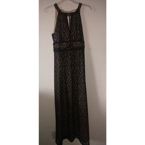 Black Patterned Long Dress